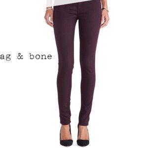 Rag & Bone Plum Purple Skinny Jeans sz 26